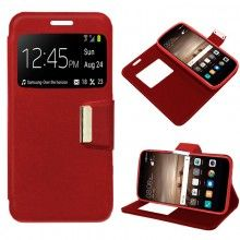 Funda Flip Cover iPhone 7 Liso Rojo