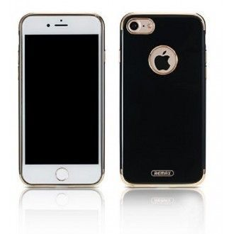 Funda Trasera Jerry Creativo alta calidad para iPhone 7 , 8 color negro Con borde Dorado