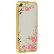 "Carcasa FLOWER para iPhone 6 ( 4,7"") Dorado"
