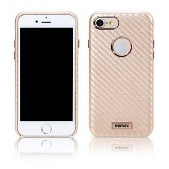 Remax : Carcasa Carbon - Apple iPhone 7 / 8 - Dorado