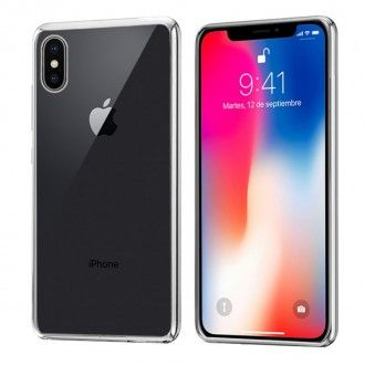 Carcasa IPhone X Borde Metalizado (Plata)