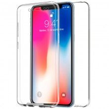 Funda Silicona 3D IPhone X (Transparente Frontal + Trasera)