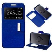 Funda Flip Cover Samsung G965 Galaxy S9 Plus Liso Azul