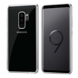 Carcasa Samsung G965 Galaxy S9 Plus Borde Metalizado (Plata)