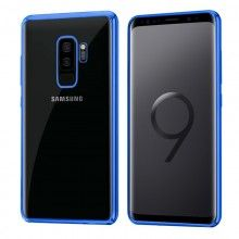 Carcasa Samsung G965 Galaxy S9 Plus Borde Metalizado (Azul)