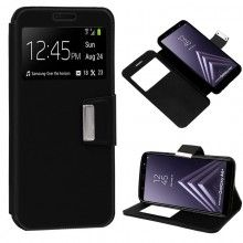 Funda Flip Cover Samsung A605 Galaxy A6 Plus Liso Negro