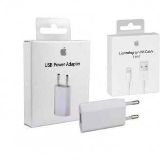 Cargador Original Apple MD813ZM + Cable Apple Original lightning MD818ZM