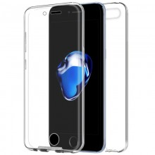 Funda Silicona 3D para iphone 7 Plus, 8 Plus (Transparente Frontal +Trasera) Protección total