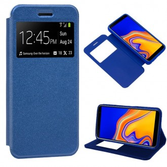 Funda Flip Cover Samsung J415 Galaxy J4 Plus Liso Azul