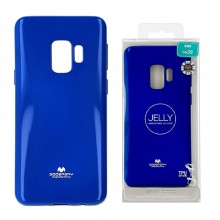 Funda Gel Tpu Mercury i-Jelly Metal para Samsung G960 GALAXY S9 color azul