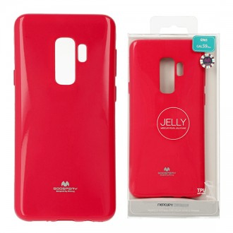 Funda Gel Tpu Mercury i-Jelly Metal para Samsung G965 GALAXY S9 Plus color rojo