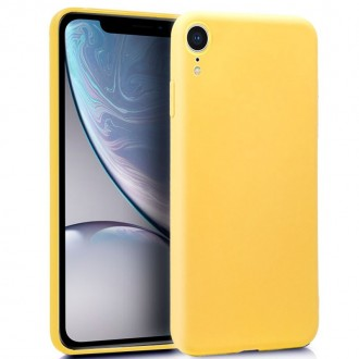 Funda Silicona iPhone XR (Amarillo)