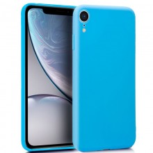Funda Silicona iPhone XR (Celeste)