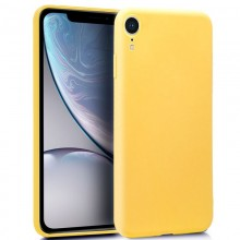 Funda Silicona iPhone XS Max (Amarillo)