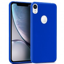 Funda Silicona iPhone XS Max (Azul)